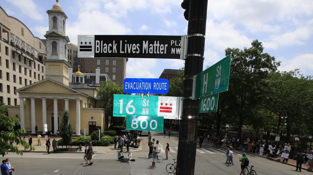 'Black Lives Matter Plaza,' Across From White House, Is Christened By D.C. Leaders