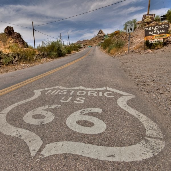 The First Comprehensive Cycling Map of Route 66