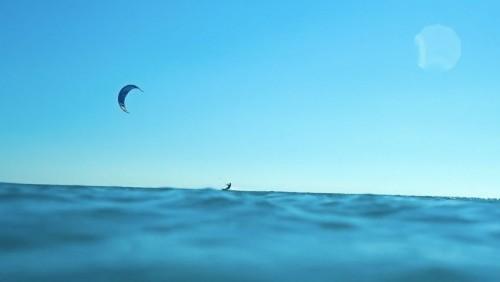 Kiteboarding on the World's Bluest Water
