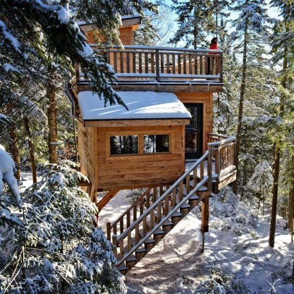 These Treehouses Are Even Better in Winter