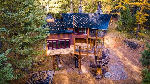 The Treehouse Mansion of Your Dreams Is in Montana