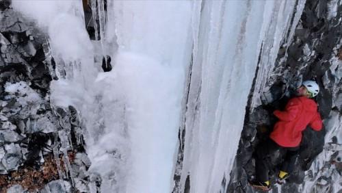 Ice Climbing in Bozeman, Montana