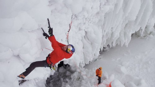 Will Gadd Ice-Climbs Helmcken Falls on Experimental Gear