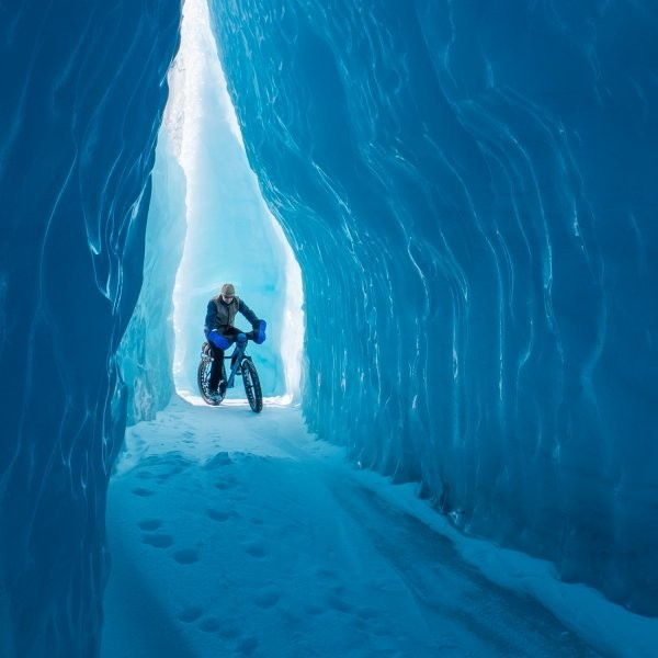 Fat Biking on Knik Glacier