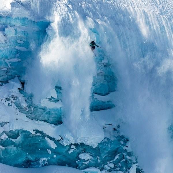 Sending a Glacier in the Whistler Backcountry