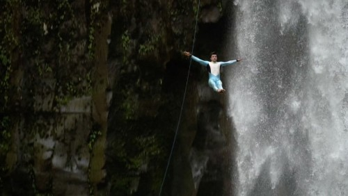 This 102-Foot Cliff Jump Is for Pros Only