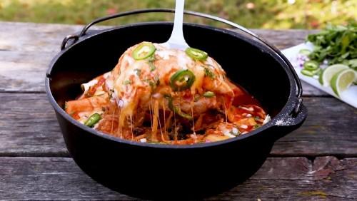 How to Make Dutch Oven Enchiladas