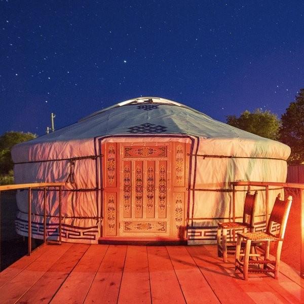 Rent a Yurt Under Texas Stars
