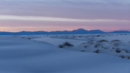 Camp in the Largest Gypsum Dune Field in the World at White Sands