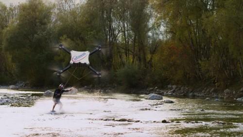 Drone-Powered Wakeskating