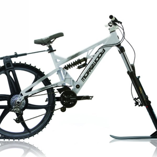 The Ktrak Snowmobile Bike Kit
