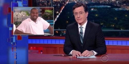 "Stephen Colbert Parodies Kanye's ""Ellen"" Speech: Watch"