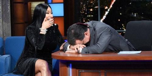 "Watch Nicki Minaj Add Lyrics About Stephen Colbert to ""Barbie Dreams"""