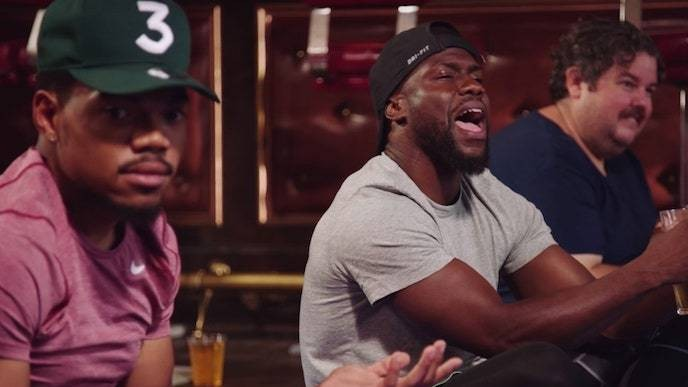 Watch Chance the Rapper Do Beer Yoga With Kevin Hart