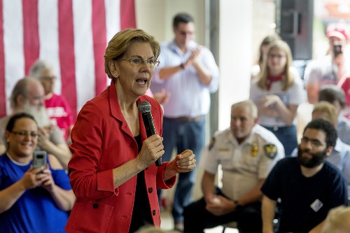 Trump backers applaud Warren in heart of MAGA country