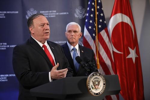 Pompeo briefs NATO on Turkey cease-fire
