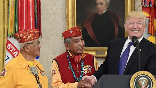 Trump taunts 'Pocahontas' during Native American event