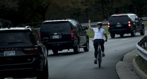 Woman fired for giving Trump motorcade the finger pens op-ed