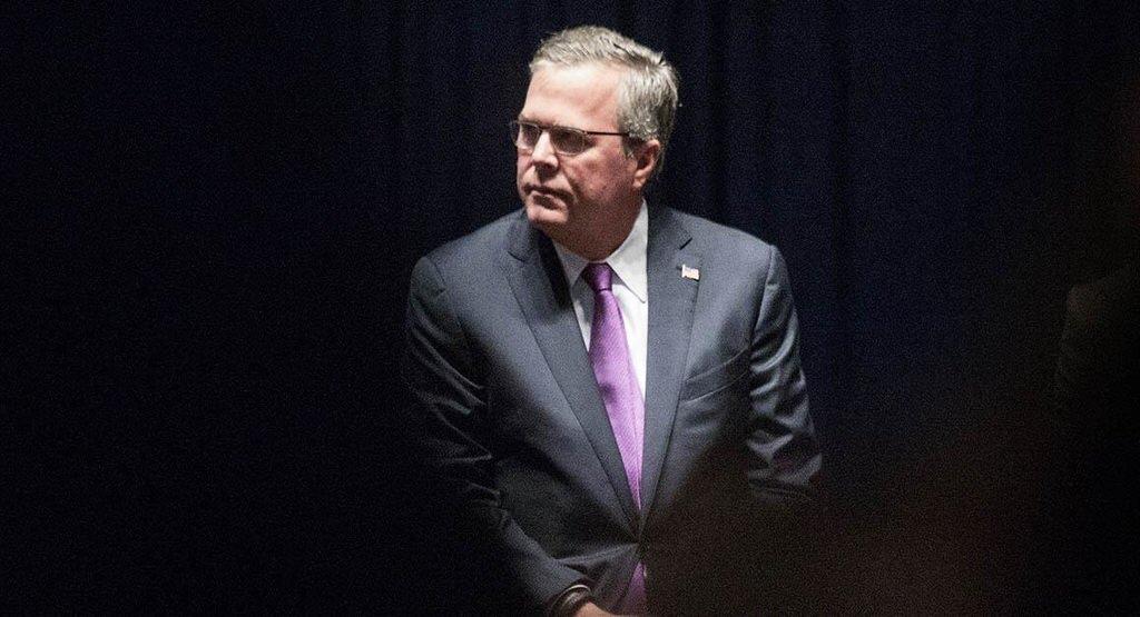 Bush blasts off
