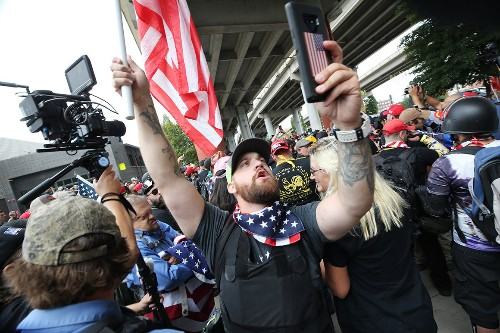 At least 13 arrested at Portland right-wing rally, counterprotests