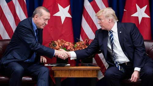 Trump says Turkish president gets 'very high marks'