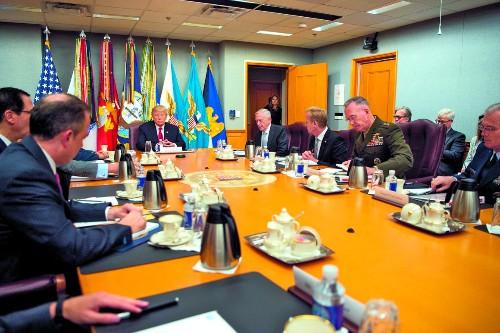 Inside Trump's First Pentagon Briefing
