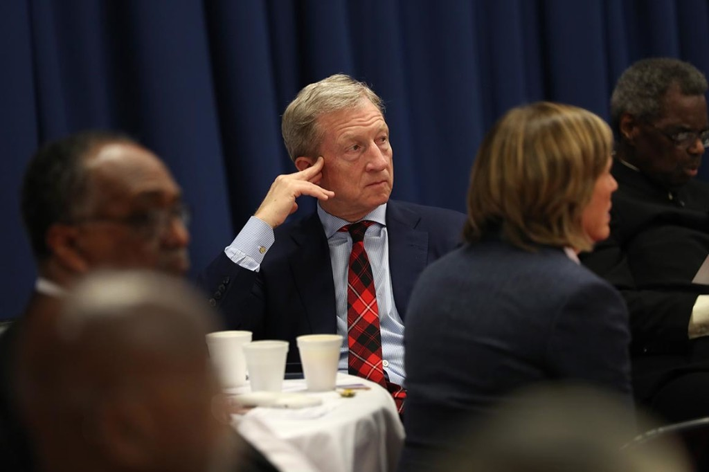 Tom Steyer returns to the fundraising circuit