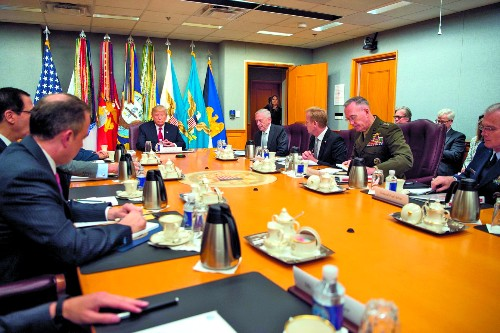 Inside Trump's First Pentagon Briefing