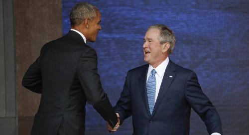Poll: Bush, Obama gaining popularity under Trump