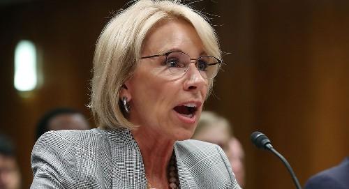 DeVos: Trump school safety panel won't look at guns - POLITICO
