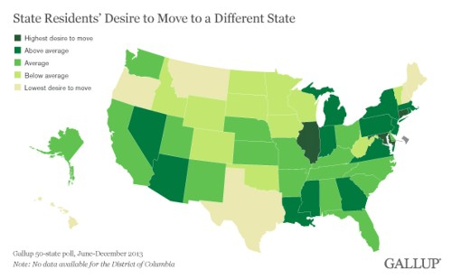 The States People Want To Get The Hell Out Of [Infographic]
