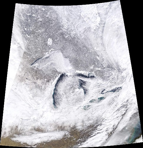 Megapixels: The polar vortex looks even colder from space