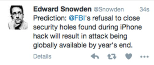 Edward Snowden Thinks A Global iPhone Attack Will Happen This Year