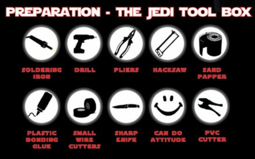 How To Build An LED Lightsaber [Infographic]