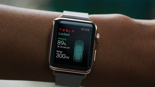 In The Future, You Can Control Your Tesla From Your Watch