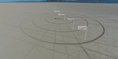 Watch People Build A Scale Model Of The Solar System In The Desert