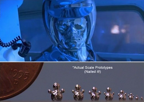 Liquid Metal Flows Into Different Forms, T-1000-Style [Video]