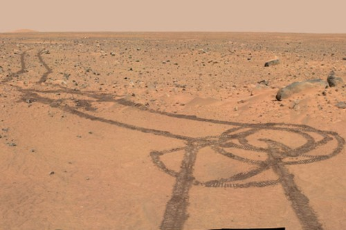 Big Pic: There's A Penis Drawing On Mars, You Guys