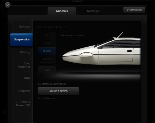 Tesla Model S Comes With Secret James Bond Homage