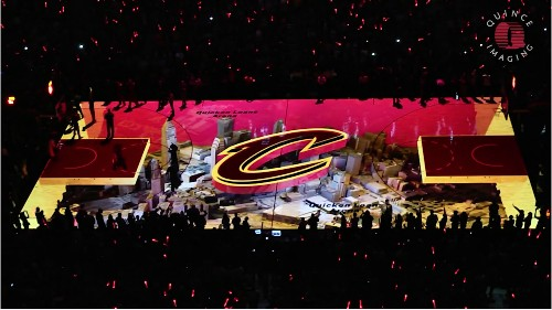 NBA Finals Game 3 Puts 3D Projection Tech On The Court In Cleveland