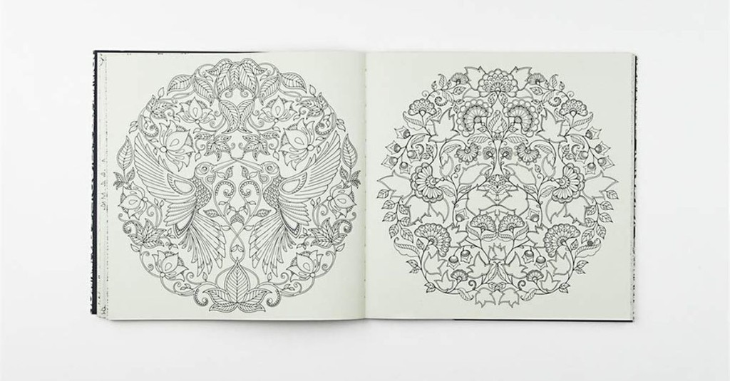 Four beautiful coloring books for relieving stress