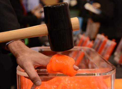 CES 2013: Wrap This Goop Around Your Fingers Then Smash Them With A Hammer