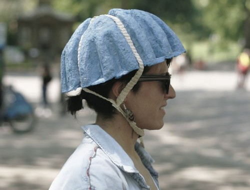 This Goofy-Looking Helmet Is Made Of Old Newspapers