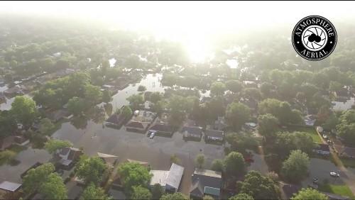 Baton Rouge Drone Company Films Louisiana Flooding