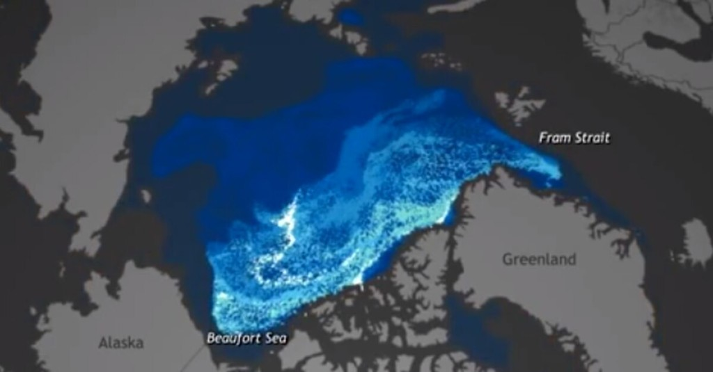 Alarming Video Shows Arctic Ice Disappearing