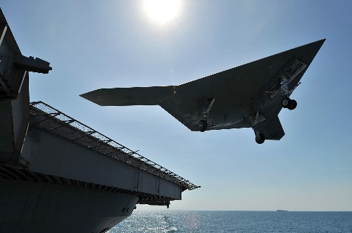 Another Big Milestone For The X-47B: Its First Touch And Go Landing