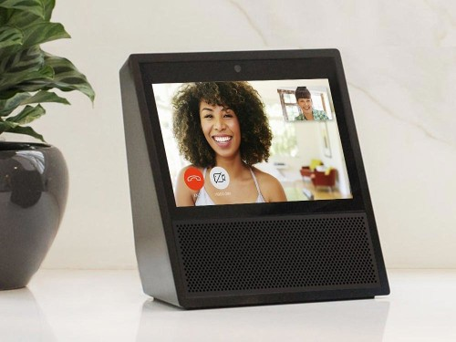 Amazon's Echo Show smart hub has a built-in touchscreen for video calling, selling you stuff