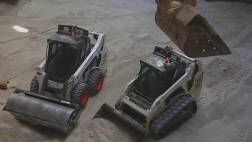 Watch Robot Bobcats Fill A Corvette-Eating Sinkhole