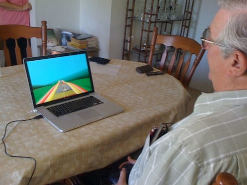 Custom Video Game Makes Grandpa As Good At Multitasking As Grandkids