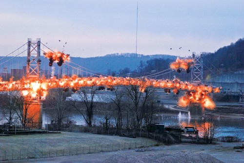 Slow-Motion Video Of A Bridge Exploding Is The Best Way To Start The Week